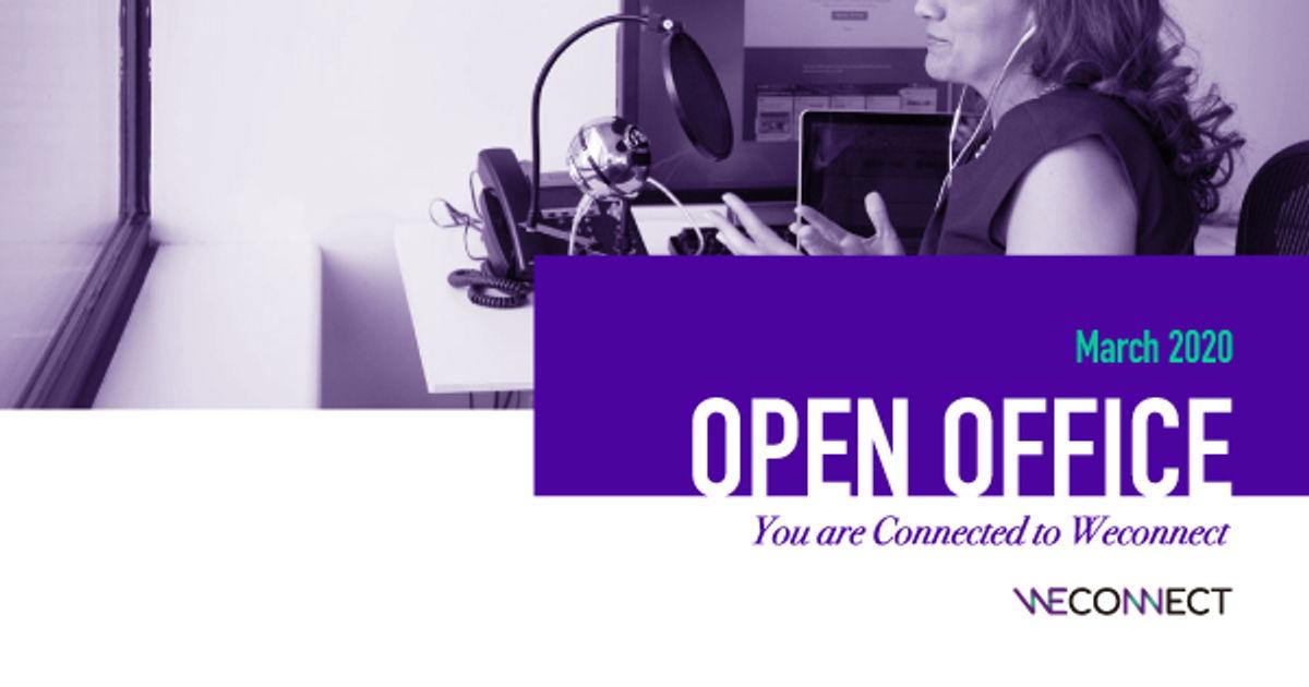 """[오픈오피스] """"위커넥트 팀과 온라인으로 만나요"""" 3월 참가자 모집 이미지"""